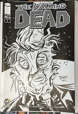 WALKING DEAD #1 Raleigh 2015 Wizard World Exclusive Variant Cover Sketch B/&W