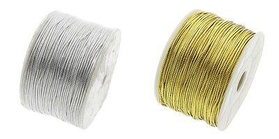 3-10m Fil Nylon 1,5mm Argente ou Dore bracelet Attache tetine Bijoux