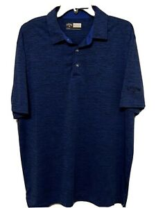 Callaway-Opti-Dri-Short-Sleeve-Blue-Golf-Polo-Shirt-Mens-L