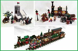 Winter-Village-Chocolatier-Church-and-Train-Cars-INSTRUCTIONS-ONLY-for-LEGO
