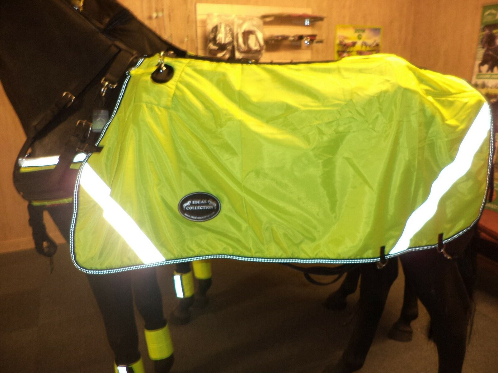 IDEAL EQUESTRIAN  HORSE PONY   FLUORESCENT DRIVING RUG  free shipping & exchanges.
