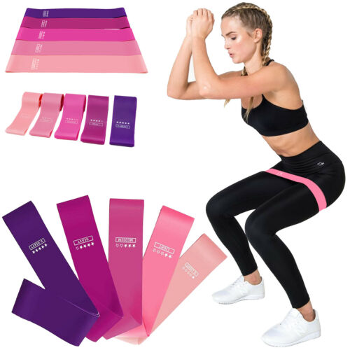 Details about  /Resistance Band Set for Home Yoga Exercise Latex Stretchy Booty Glutes Bands Gym