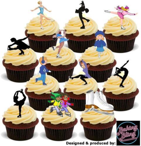 Nouveauté patinage sur glace party pack mix comestibles gâteau toppers jolis garçons anniversaire male