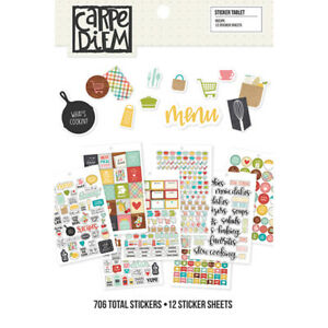 Simple-Stories-Carpe-Diem-Recipe-Collection-A5-Planner-Inserts-sticker-tablet