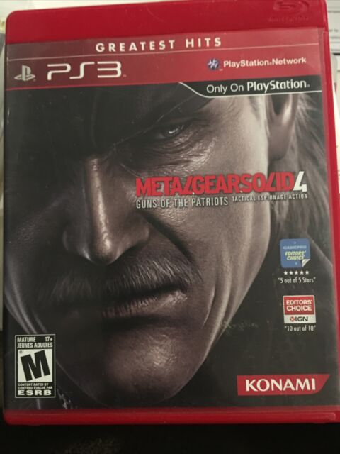 METAL GEAR SOLID 4 GUNS OF THE PATRIOTS PS3 MANUAL COMPLETE