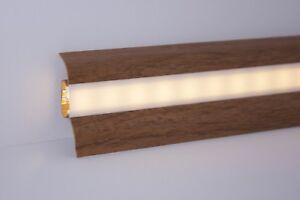 5-m-Sockelleisten-fuer-LED-Stripes-Kabelkanal-gratis-Montagematerial-15-Farben