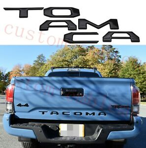 Tailgate Insert Tailgate Letters fits 2016-2021 Toyota Tacoma (Black Domed)