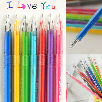 Office Supplies 0.5mm Rollerball Gel Pens Fine Point 12-Pack Assorted Colors