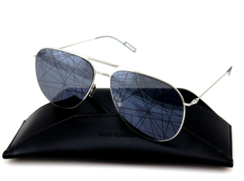 acd8249a341 10 of 12 RARE NEW Genuine DIOR HOMME 0205S Palladium Black Mirror Pilot  Sunglasses 84J MD