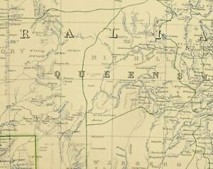 Map Of Australia 1880.Details About 1880 Antique Map South Australia New South Wales Victoria Queensland Sydney