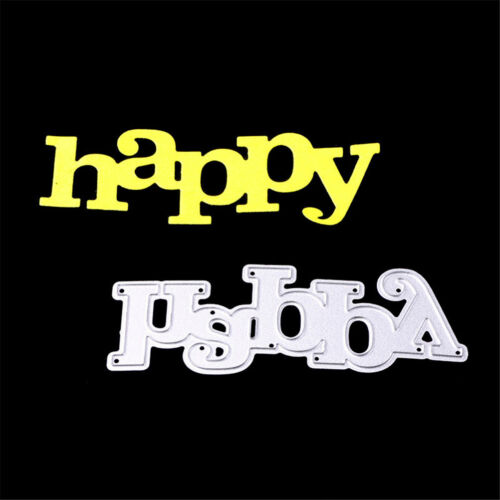 Greeting Words happy Metal Cutting Dies For DIY Scrapbooking Card Craft Decor KI