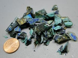 Azurite-Malachite-Unpolished-Tiny-Rock-Chips-20-grams-Lapidary-Healing-Stone