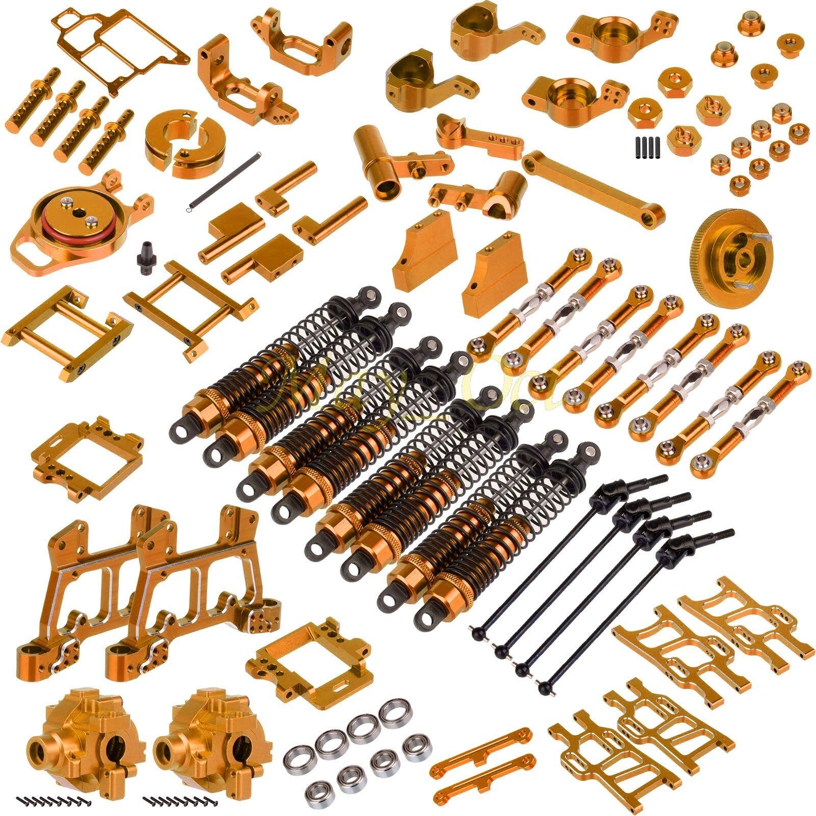 Paquete de piezas de actualización para HSP 1 10 RC 4 WD Nitro Power Off-road Truck 94108 oro