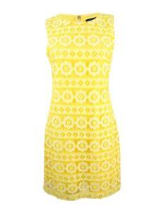Tommy-Hilfiger-Women-039-s-Floral-Lace-Sheath-Dress