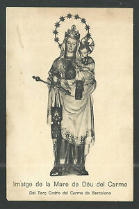 image pieuse ancianne postale de la Virgen del Carmen santino holy card iBEHth9N-09120807-776490135