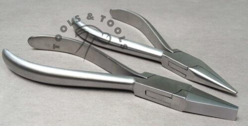 Qualité 2 ordinateurs plat /& chaîne nez mâchoires Bijoux dentaires Orthodontique pinces conique