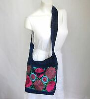 Mexican Embroidered Handbag Medium Handmade Crossbody Bag Shoulder Purse