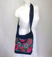 Mexican Embroidered Handbag Medium Handmade Crossbody Bag Shoulder Purse