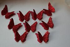 25 Rosso 3D Glitter, Perla Farfalla coriandoli, decorazione tavola, carte