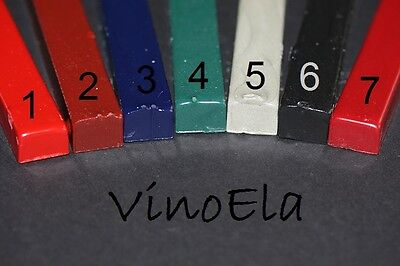 1 Stück hart Siegel Lack 20 cm Siegellack Stange Udig Siegellackstange Grün
