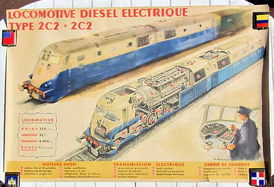 1948 Diesel Locomotive Electrique 2c2 Drawing By Brenet And Bouvry