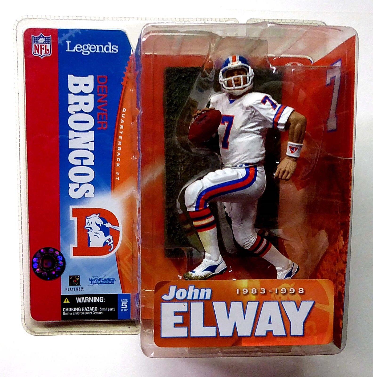 Denver Broncos John Elway NFL Legends Series  1 Variant McFarlane Sports nuovo 2005  ordinare on-line