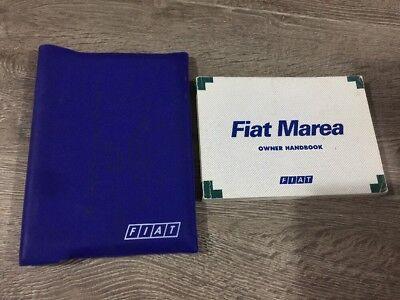 #5 Originali Fiat Marea Proprietari Manuale Manuale Cartella Libro Pack Set Mk1 1996-2002- Eccellente Nell'Effetto Cuscino