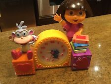 Dora The Explorer and Boots Singing Alarm Clock - 2003 Nice condition