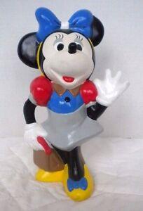 Vintage-Walt-Disney-Productions-Minnie-Mouse-9-inch-Large-Figurine-Statue-Figure