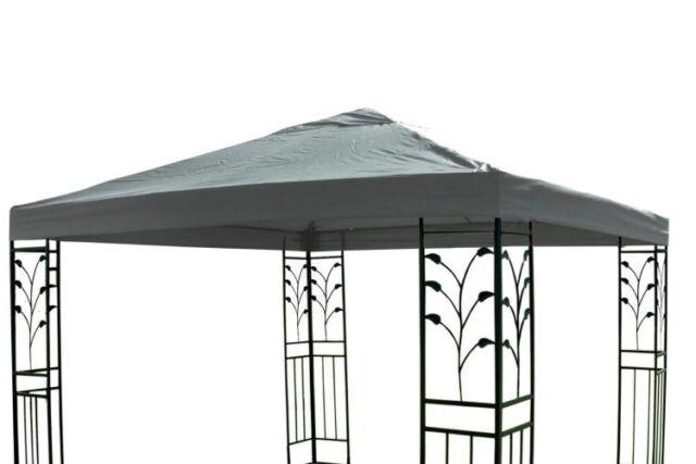 Ersatzdach für Gartenpavillon Pavillon  3 x 3 m Ersatz Dach Wasserdicht grau