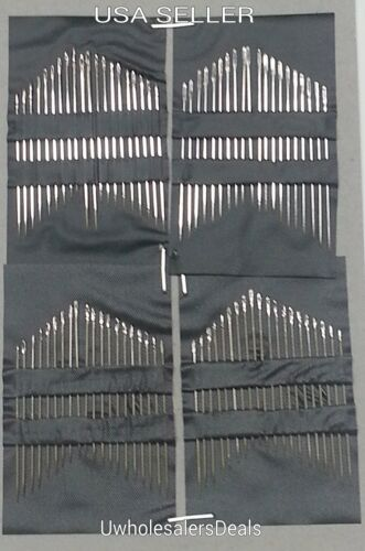 80 Needles Household Silver Eye Sewing Needles NEW