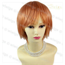 Wiwigs Striking Light Orange Short Cosplay Party Hair Ladies Wig