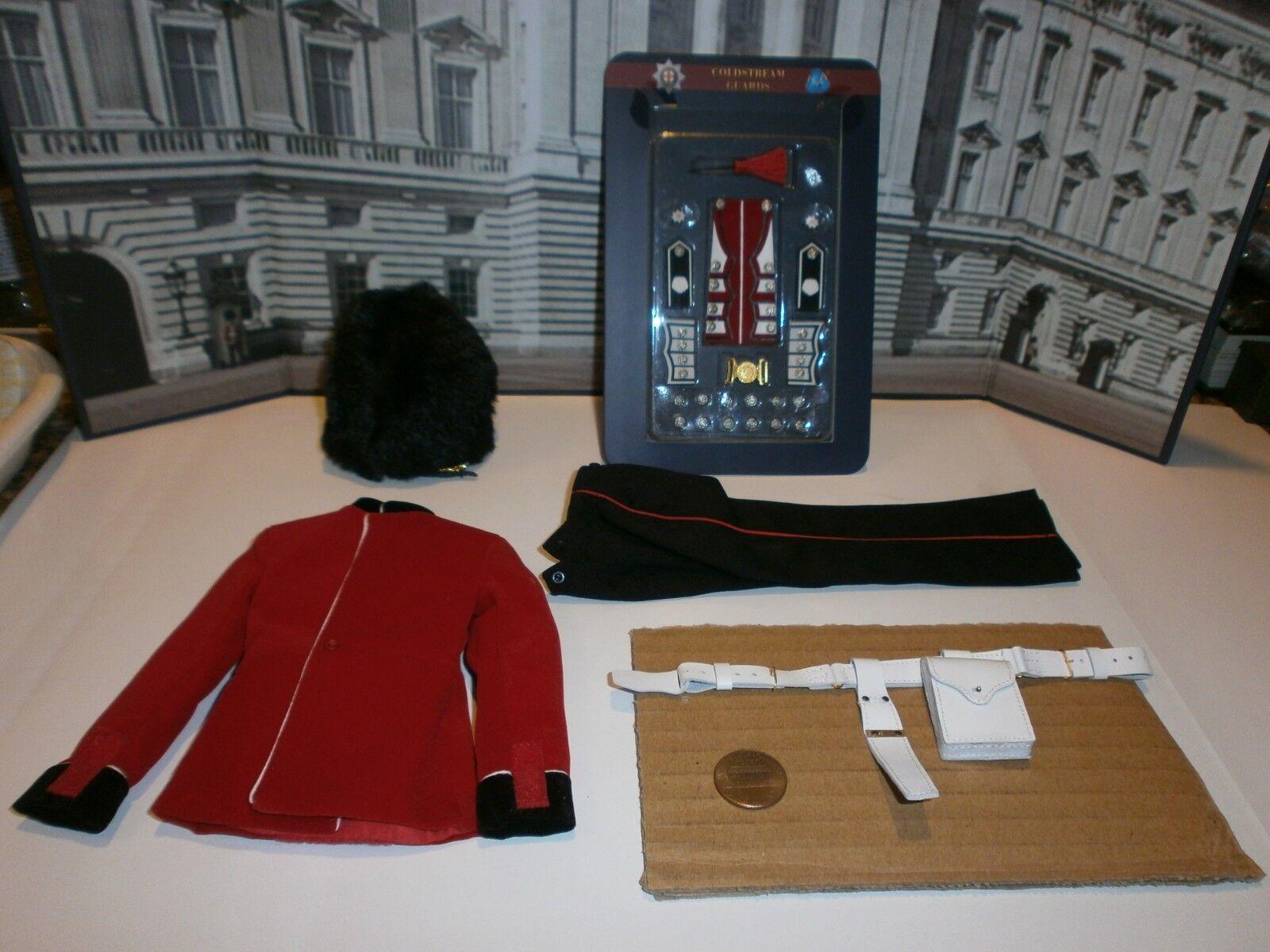 Satte vaktstyrkan Coldstream vaktens uniform 1  6th skala leksaksaccessoar