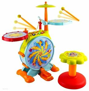 Kids Toddler First Electric Drum kit Set With Mic And Seat CHILDREN MUSICAL TOY