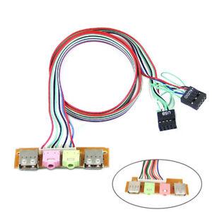 KQ-BH-KF-AU-Replacement-PC-Computer-Case-Front-Panel-USB-Audio-Port-Mic-Earp
