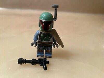 LEGO Star Wars Boba Fett Bounty Hunter Minifigure 9496 Printed Legs Cape Skiff