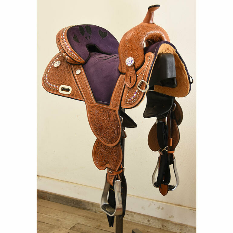 New  14.5  Tammy Fischer Treeless Barrel Saddle by Circle Y Saddlery Code  1311-