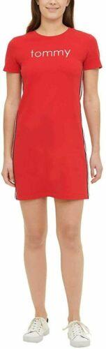 Sz: Large Women/'s Tommy Hilfiger Logo T-Shirt Dress NEW!! Scarlet Red