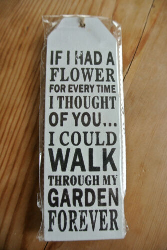 Wooden Shabby Hanging Tag Slogan Wall Plaques
