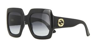 c9c1316a6b Image is loading Gucci-GG0053S-black-grey-shaded-001-A-Sunglasses