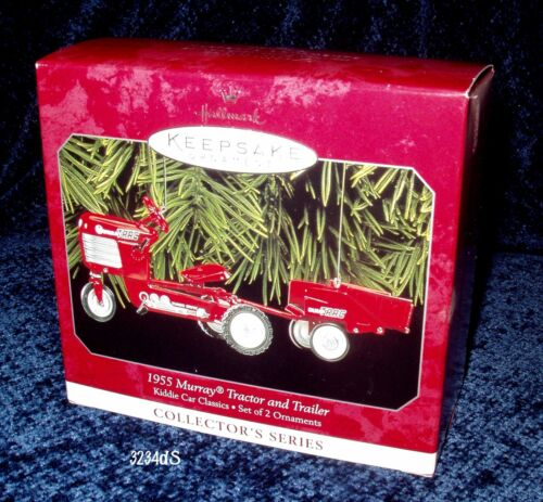 1998 Hallmark 1955 Murray TRACTOR and TRAILER #5 Kiddie Car Classics Ornament