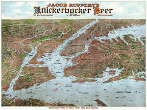 MAP ANTIQUE 1868 BEERS TARRYTOWN VICINITY NEW YORK REPLICA POSTER PRINT PAM1884