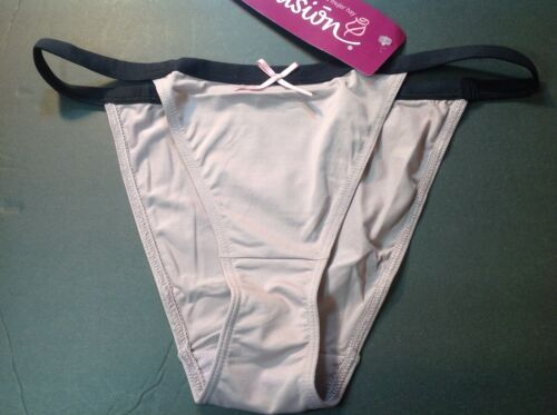 Women Panties,String Bikinis,ILUSION,Mexico,Size S Soft Shiny Elastic Beige