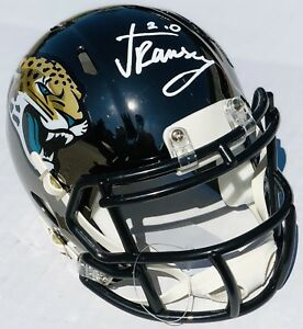 finest selection c66ee fba8f Details about PSA/DNA Jaguars #20 JALEN RAMSEY Signed Autographed CHROME  Mini Football Helmet