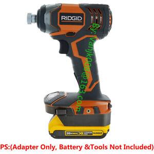 1x-Dewalt-20V-MAX-XR-Li-Ion-Battery-To-Ridgid-18V-Cordless-Impact-Tools-Adapter
