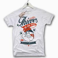 T-Shirt - Thieves in the night - Oldschool tattoo Bad Boy fight Gr. S M L XL XXL