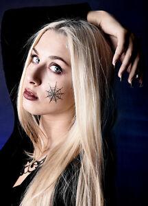 Halloween-MEGA-BOX-Tattoos-reflektierende-Armbaender-Spinne-Fledermaus-SET-369