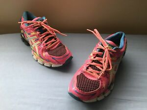 ASICS-T4A6N-Women-039-s-GEL-SENDAI-Hot-Pink-Blue-Athletic-Running-Shoes-Sz-US-7-5
