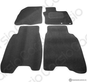 Honda-Civic-2006-2008-Tailored-Black-Car-Floor-Mats-Carpets-4pc-Set-2-Holes