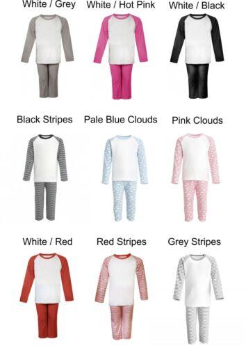 Personalised Children/'s Kids Printed UNICORN Pajamas Pyjamas PJ/'s ANY NAME GIRLS